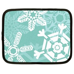 Snowflakes 3  Netbook Case (xl)  by theimagezone