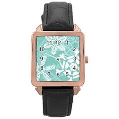 Snowflakes 3  Rose Gold Watches by theimagezone