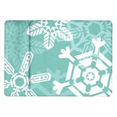 Snowflakes 3  Samsung Galaxy Tab 10 1  P7500 Flip Case by theimagezone