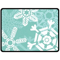 Snowflakes 3  Double Sided Fleece Blanket (large)  by theimagezone