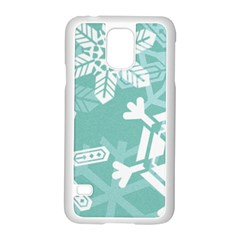 Snowflakes 3  Samsung Galaxy S5 Case (white) by theimagezone