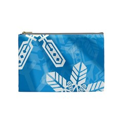 Snowflakes 1  Cosmetic Bag (medium)  by theimagezone