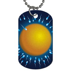 Sperm Fertilising Egg  Dog Tag (two Sides) by ScienceGeek