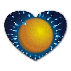 Sperm Fertilising Egg  Heart Mousepads by ScienceGeek