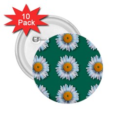 Daisy Pattern  2 25  Buttons (10 Pack)  by theimagezone