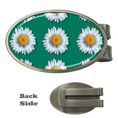 Daisy Pattern  Money Clips (oval)  by theimagezone