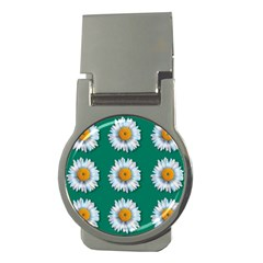 Daisy Pattern  Money Clips (round)  by theimagezone