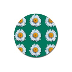 Daisy Pattern  Magnet 3  (round) by theimagezone