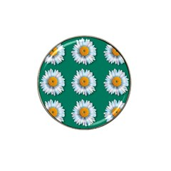 Daisy Pattern  Hat Clip Ball Marker by theimagezone