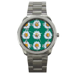 Daisy Pattern  Sport Metal Watches by theimagezone