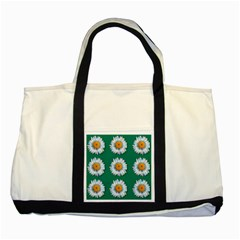 Daisy Pattern  Two Tone Tote Bag  by theimagezone