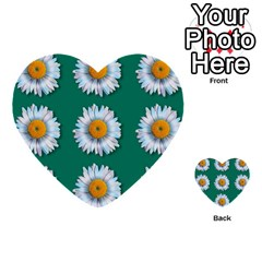 Daisy Pattern  Multi Purpose Cards (heart)  by theimagezone