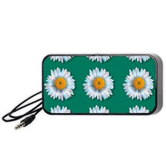 Daisy Pattern  Portable Speaker (black)  by theimagezone