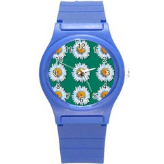 Daisy Pattern  Round Plastic Sport Watch (s) by theimagezone