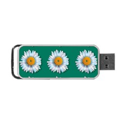 Daisy Pattern  Portable Usb Flash (one Side) by theimagezone