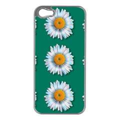 Daisy Pattern  Apple Iphone 5 Case (silver) by theimagezone
