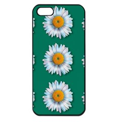 Daisy Pattern  Apple Iphone 5 Seamless Case (black) by theimagezone