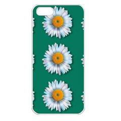 Daisy Pattern  Apple Iphone 5 Seamless Case (white) by theimagezone