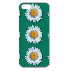 Daisy Pattern  Apple Seamless Iphone 5 Case (clear) by theimagezone