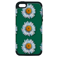 Daisy Pattern  Apple Iphone 5 Hardshell Case (pc+silicone) by theimagezone