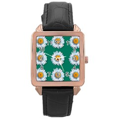 Daisy Pattern  Rose Gold Watches by theimagezone
