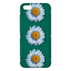 Daisy Pattern  Apple Iphone 5 Premium Hardshell Case by theimagezone