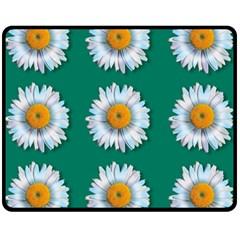 Daisy Pattern  Double Sided Fleece Blanket (medium)  by theimagezone