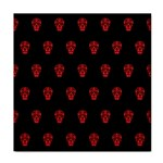 Skull Pattern Red Tile Coasters