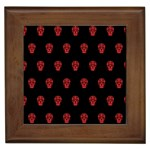 Skull Pattern Red Framed Tiles