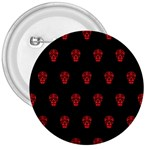 Skull Pattern Red 3  Buttons