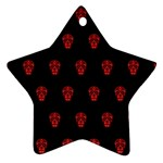 Skull Pattern Red Ornament (Star)
