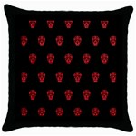 Skull Pattern Red Throw Pillow Cases (Black)
