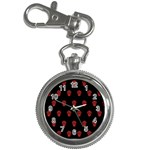 Skull Pattern Red Key Chain Watches