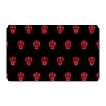 Skull Pattern Red Magnet (Rectangular)