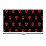 Skull Pattern Red Business Card Holders