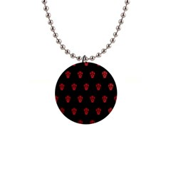 Skull Pattern Red Button Necklaces by MoreColorsinLife