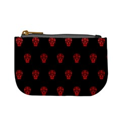 Skull Pattern Red Mini Coin Purses by MoreColorsinLife