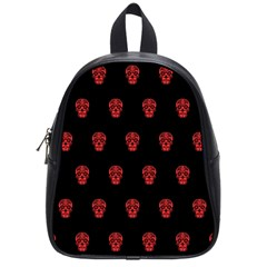Skull Pattern Red School Bags (small)  by MoreColorsinLife