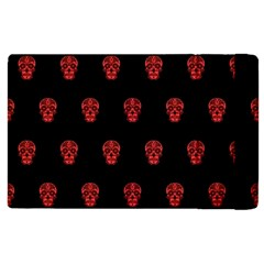 Skull Pattern Red Apple Ipad 2 Flip Case by MoreColorsinLife