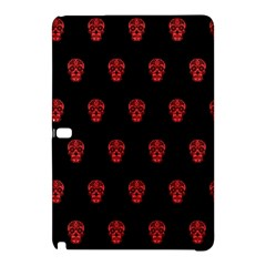 Skull Pattern Red Samsung Galaxy Tab Pro 12.2 Hardshell Case by MoreColorsinLife