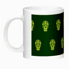 Skull Pattern Green Night Luminous Mugs by MoreColorsinLife