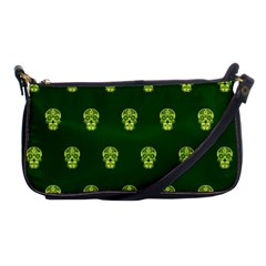 Skull Pattern Green Shoulder Clutch Bags by MoreColorsinLife