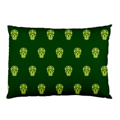 Skull Pattern Green Pillow Cases (two Sides) by MoreColorsinLife