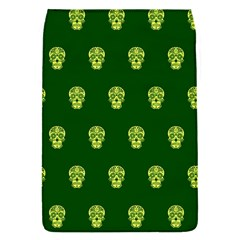 Skull Pattern Green Flap Covers (s)  by MoreColorsinLife