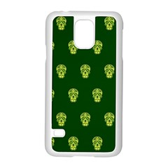 Skull Pattern Green Samsung Galaxy S5 Case (white) by MoreColorsinLife