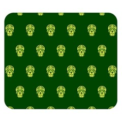Skull Pattern Green Double Sided Flano Blanket (small)  by MoreColorsinLife
