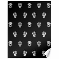 Skull Pattern Bw  Canvas 18  x 24   by MoreColorsinLife