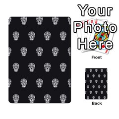 Skull Pattern Bw  Multi Purpose Cards (rectangle)