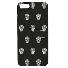 Skull Pattern Bw  Apple Iphone 5 Hardshell Case With Stand by MoreColorsinLife
