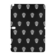 Skull Pattern Bw  Samsung Galaxy Note 10 1 (p600) Hardshell Case by MoreColorsinLife